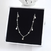 LDR8114 S925 Silver Globe Necklace