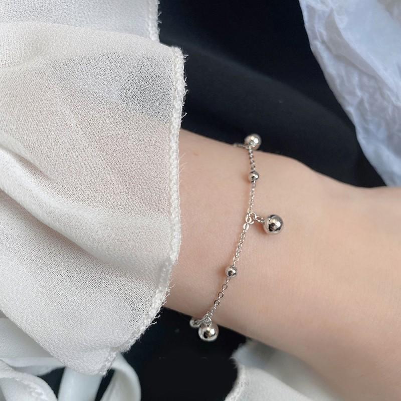 LDR8116 S925 Silver Beans Bracelet