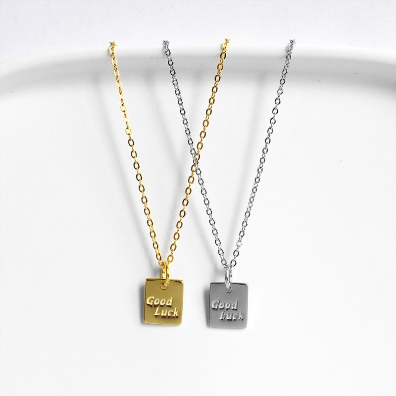 LDR8117 S925 Silver Good Luck Necklace