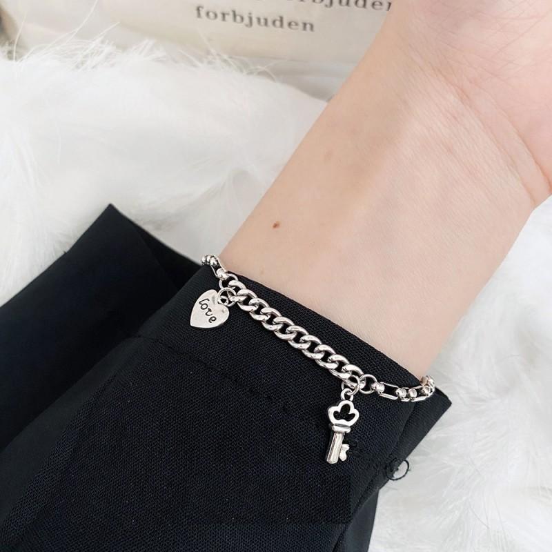 LDR8124 S925 Silver Lover Heart Bracelet