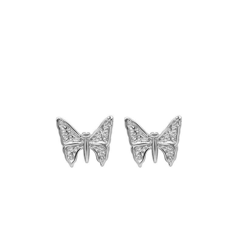 LDR8130 S925 Silver Butterfly Earrings