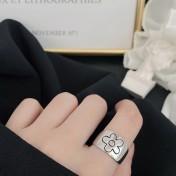 LDR8131 S925 Silver Daisy Open Ring