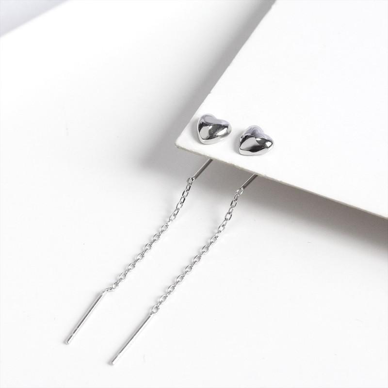 LDR8132 S925 Silver Love Earrings