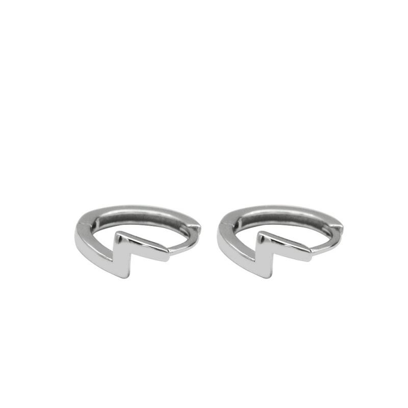 LDR8133 S925 Silver Lightning Earrings