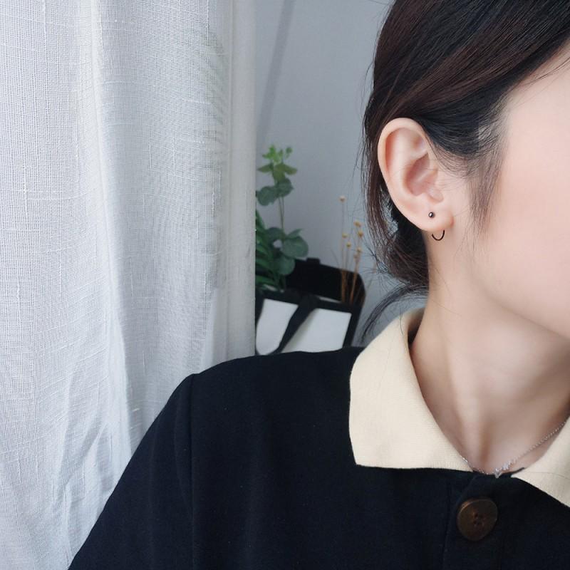 LDR8134 S925 Silver Globe Earrings
