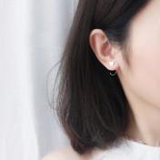 LDR8142 S925 Silver Lover Heart Earrings