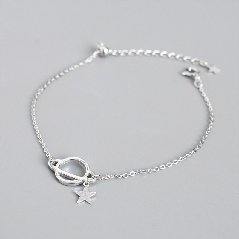 LDR8145 S925 Silver Cosmo Bracelet