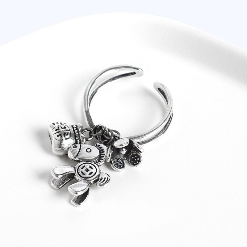 LDR8147 S925 Silver Wealthy Pony Open Ring