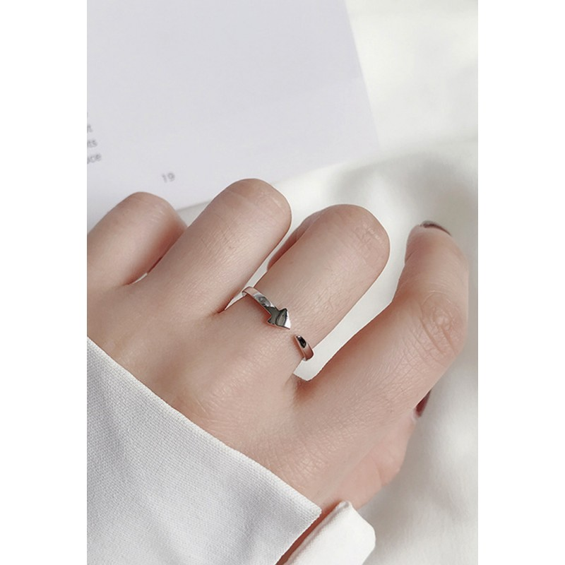 LDR9100 S925 Silver Line and Arrow Ring