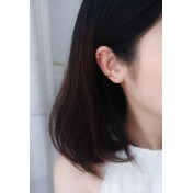 LDR9102 S925 Silver Irregular Shape Clip Earrings