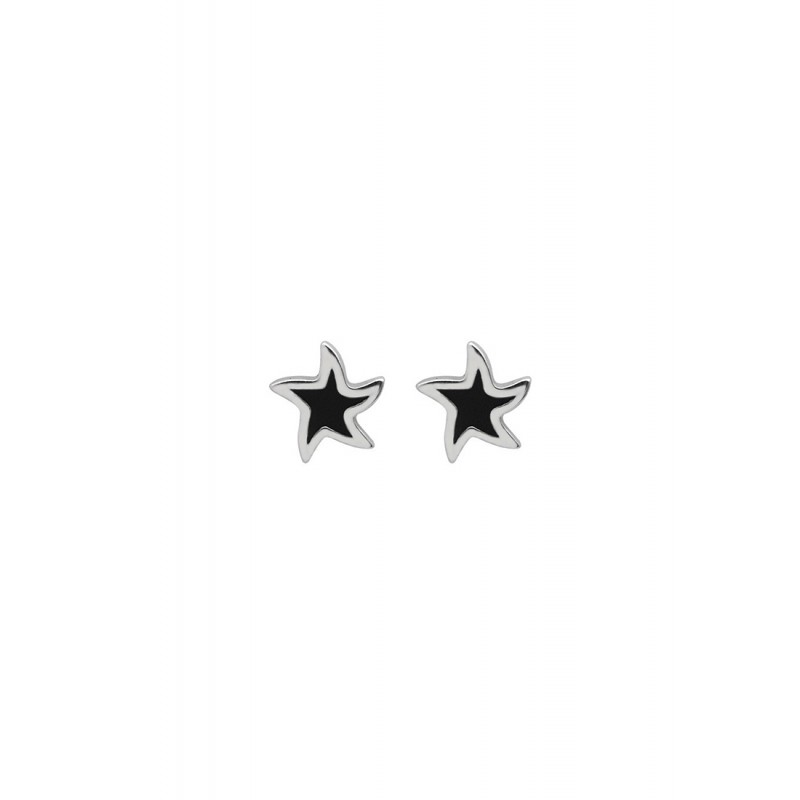 LDR9104 S925 Silver Retro Stars Stud Earrings