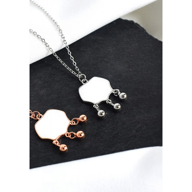 LDR9105 S925 Silver Ancient Chinese Ru-yi Necklace