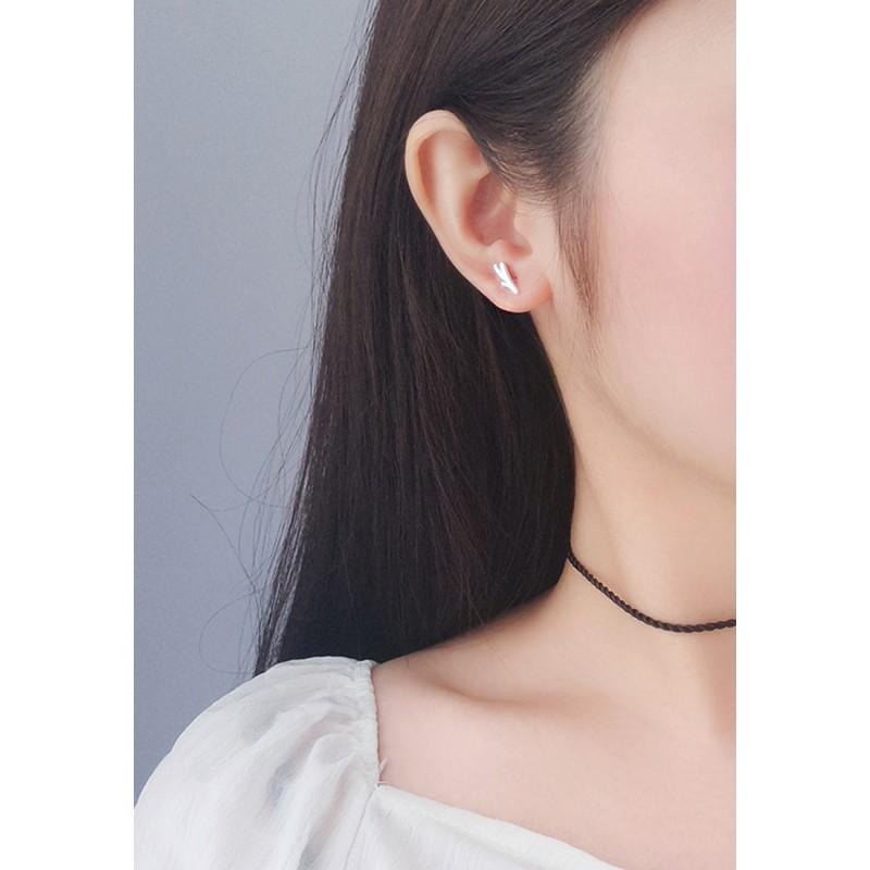 LDR9107 S925 Silver Tree Branch Stud Earrings