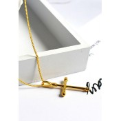 LDR9109 S925 Silver Retro Cross Necklace