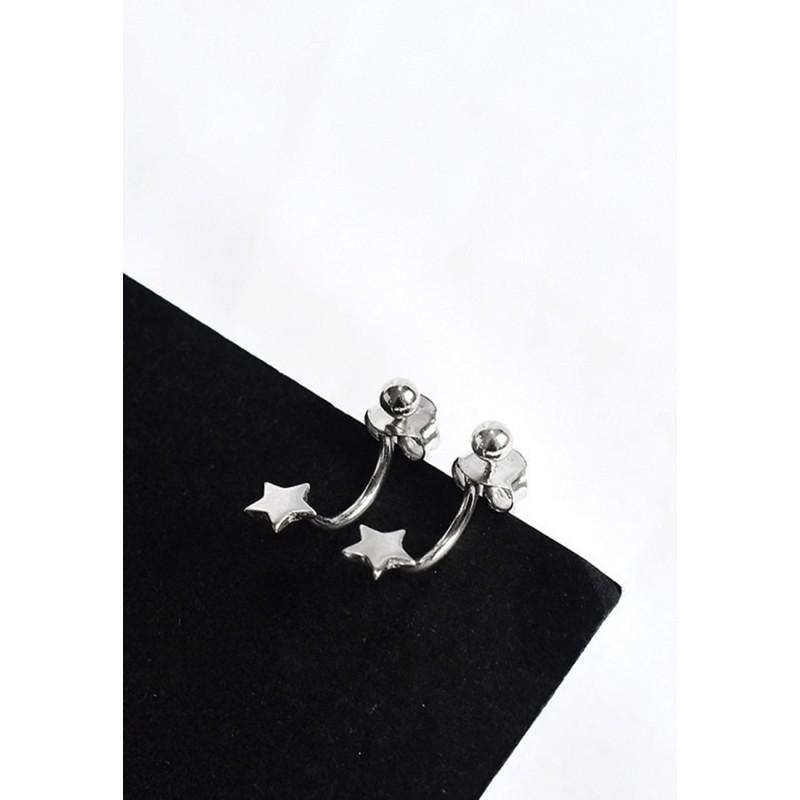 LDR9110 S925 Silver Landing Stars Stud Earrings