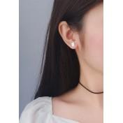 LDR9113 S925 Silver Cute Cat Stud Earrings