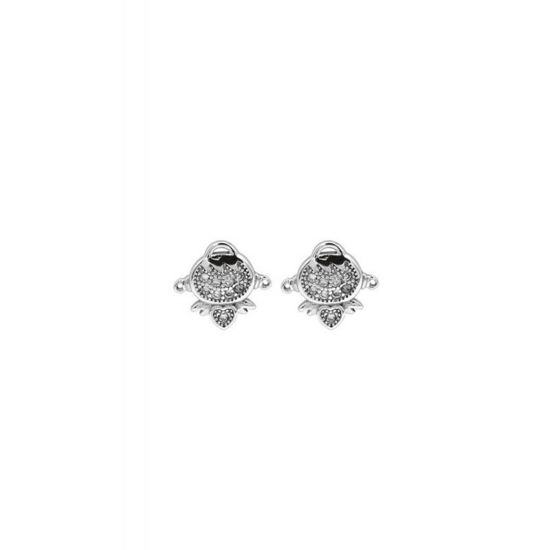 LDR9114 S925 Silver Baby Angel Stud Earrings
