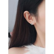 LDR9116 S925 Silver Simple Circle Stud Earrings