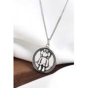 LDR9118 S925 Silver Retro Japanese Coin Necklace