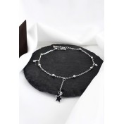 LDR9119 S925 Silver Star Charms Anklet