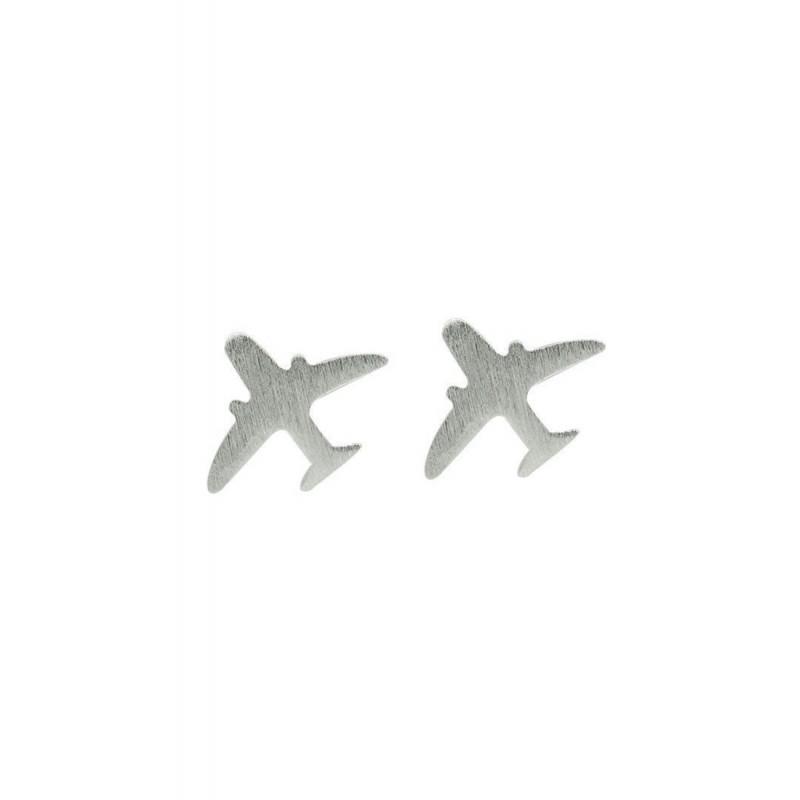 LDR9132 S925 Silver Airplanes Stud Earrings