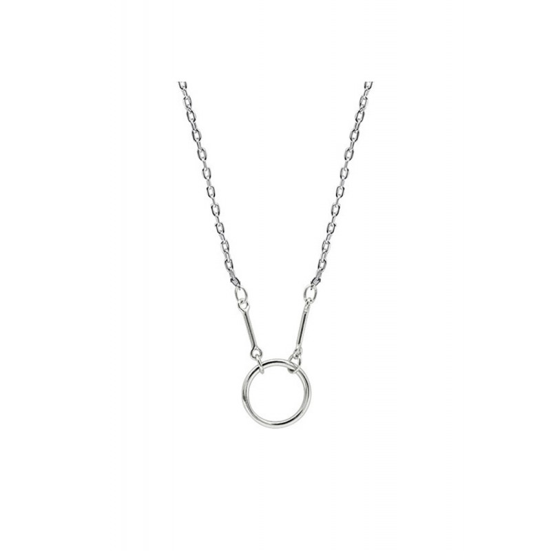LDR9134 S925 Silver Simple Circle Necklace