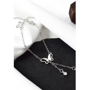 LDR9136 S925 Silver Flying Butterfly Anklet