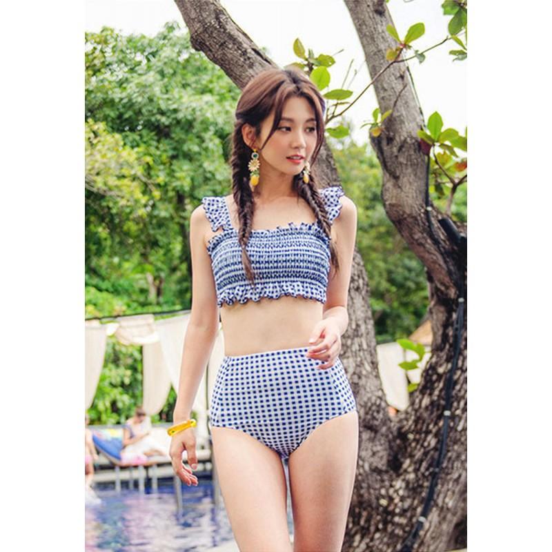 LSN7005韓版女式兩件式鋼托泳衣