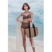 LSN7009 Korean Lady Two Piece Wired Bikini
