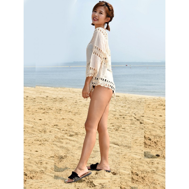 BC9616 Lady Knitted Beachwear Cover-up