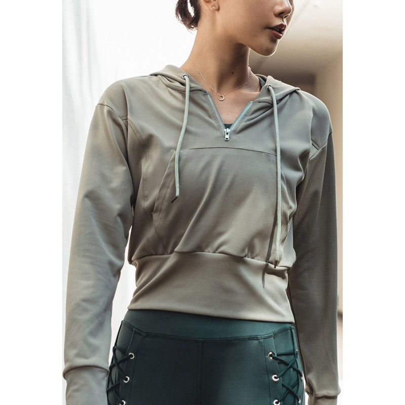 ZBG8091-Lady Quick Drying Running Fitness Yoga Sports Hoodie