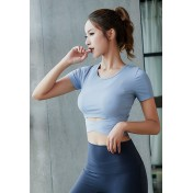 ZYG3007_Lady Quick Drying Running Fitness Yoga Sports Top