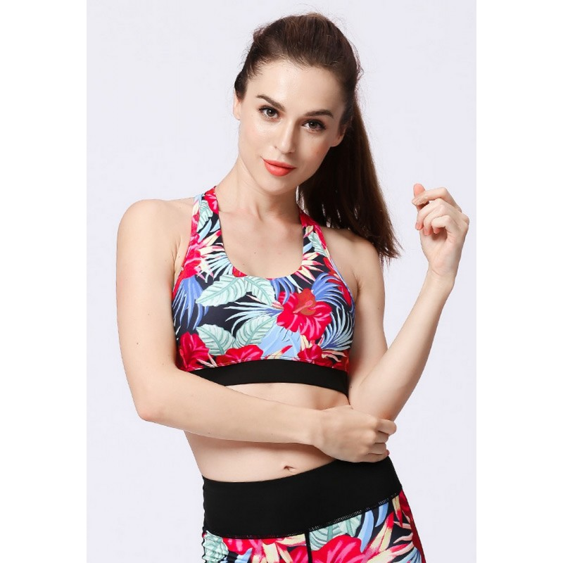 ZYG3016P_Lady Quick Drying Running Fitness Yoga Sports Bra and Leggings Two Pieces Set
