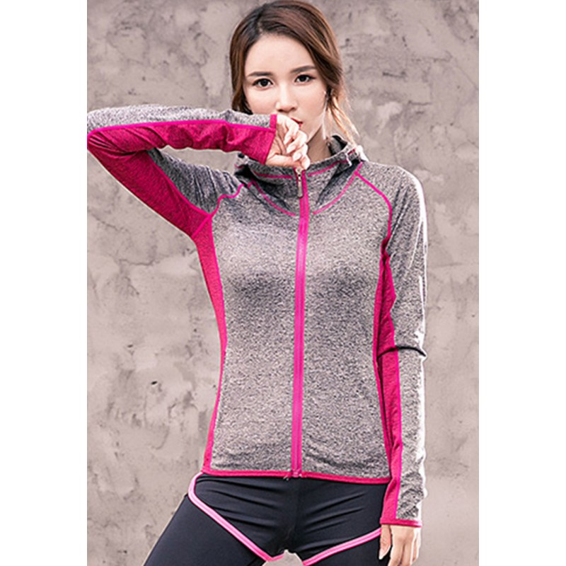 ZYG3052_Lady Quick Drying Running Fitness Yoga Sports Jacket